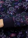Свитшот принтованный с круглым вырезом oodji для женщины (синий), 14807021-1/46919/7980F