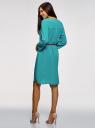 Платье вискозное с ремнем oodji #SECTION_NAME# (зеленый), 11900180B/42540/6C00N - вид 3