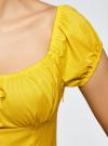 Платье хлопковое со сборками на груди oodji #SECTION_NAME# (желтый), 11902047-2B/14885/5100N - вид 5
