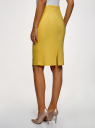 Юбка прямая с завышенной талией oodji для женщины (желтый), 21601295B/35589/5100N