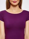 Платье миди с вырезом на спине oodji #SECTION_NAME# (фиолетовый), 24001104-5B/47420/8300N - вид 4