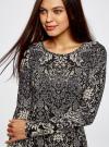 Платье трикотажное с этническим принтом oodji для женщины (черный), 24001070-4/15640/2933E - вид 4