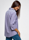 Рубашка свободного силуэта с асимметричным низом oodji #SECTION_NAME# (фиолетовый), 13K11002/45387/1075S - вид 3