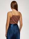 Топ в бельевом стиле на пуговицах oodji для женщины (коричневый), 14911020/49386/3700N