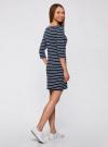 Платье трикотажное базовое oodji для женщины (синий), 14001071-2B/46148/7910S - вид 3