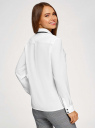 Блузка свободного силуэта из струящейся ткани oodji #SECTION_NAME# (белый), 11401282/49474/1229B - вид 3