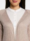 Кардиган удлиненный без застежки oodji для женщины (бежевый), 63212571/46372/3500M - вид 4