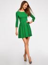 Платье трикотажное приталенное oodji #SECTION_NAME# (зеленый), 14011005B/38261/6E00N - вид 6