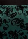 Юбка-карандаш с принтом из флока oodji для женщины (зеленый), 14101083/42376/6929E