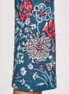Платье трикотажное с вырезом-капелькой на спине oodji #SECTION_NAME# (синий), 24001070-5/15640/7630F - вид 5