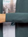 Кардиган трикотажный без застежки oodji #SECTION_NAME# (зеленый), 19201004-3B/48033/6C00N - вид 5