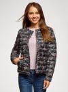 Куртка стеганая с круглым вырезом oodji #SECTION_NAME# (черный), 10204040-1B/42257/2919F - вид 2