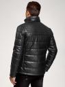 Куртка стеганая из искусственной кожи oodji #SECTION_NAME# (черный), 1L111055M/47397N/2900N - вид 3