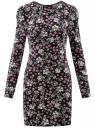Платье трикотажное облегающего силуэта oodji #SECTION_NAME# (черный), 14000171/46148/2912F