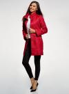 Пальто прямого силуэта из фактурной ткани oodji #SECTION_NAME# (красный), 10104043/43312/4500N - вид 6