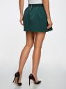 Юбка из фактурной ткани на эластичном поясе oodji #SECTION_NAME# (зеленый), 14100019-1/43642/6C00N - вид 3