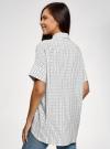 Блузка вискозная с завязками на воротнике oodji #SECTION_NAME# (белый), 11405143/48458/1029O - вид 3