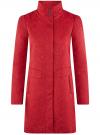 Пальто прямого силуэта из фактурной ткани oodji #SECTION_NAME# (красный), 10104043/43312/4500N