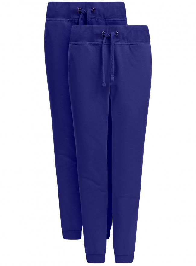 Комплект трикотажных брюк (2 пары) oodji для женщины (синий), 16700030-15T2/46173/7500N