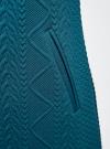 Платье трикотажное из фактурной ткани oodji #SECTION_NAME# (синий), 24001100-6/45351/7400N - вид 5