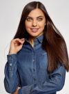 Платье джинсовое с поясом и нагрудным карманом oodji для женщины (синий), 12909044/45251/7900W - вид 4