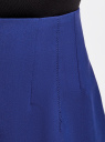 Юбка на молнии с кружевной отделкой oodji для женщины (синий), 11602178/45660/7500N