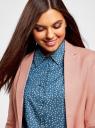 Жакет льняной приталенный oodji #SECTION_NAME# (розовый), 11212018B/16009/4B00N - вид 4