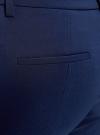Брюки стретч зауженные oodji #SECTION_NAME# (синий), 11700209/42250/7900N - вид 5