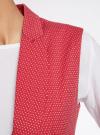 Жилет классический из фактурной ткани oodji для женщины (красный), 12300099-6/46373/4533D - вид 5