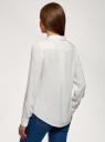 Блузка базовая из вискозы oodji #SECTION_NAME# (белый), 11411136B/26346/1200N - вид 3