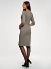 Платье приталенное с вырезом-лодочкой oodji #SECTION_NAME# (черный), 14011011-2/46979/2930G - вид 3