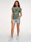 Шорты джинсовые базовые oodji #SECTION_NAME# (синий), 12807025-3B/46253/7000W - вид 6