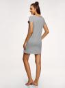 Платье домашнее с принтом oodji #SECTION_NAME# (серый), 59801006-21/46154/2012Z - вид 3