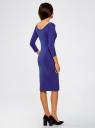 Платье облегающее с вырезом-лодочкой oodji #SECTION_NAME# (синий), 14017001-6B/47420/7500N - вид 3