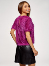 Блузка ворсистая с вырезом-капелькой на спине oodji #SECTION_NAME# (розовый), 14701049/46105/4700N - вид 3
