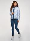 Куртка стеганая с круглым вырезом oodji #SECTION_NAME# (синий), 10204040-1B/42257/7080O - вид 6