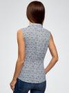 Рубашка базовая без рукавов oodji #SECTION_NAME# (синий), 11405063-4B/45510/1079E - вид 3