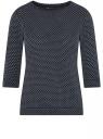Джемпер с круглым вырезом и рукавом 3/4 oodji для женщины (синий), 14801021-15B/38030/7991X