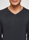 Пуловер удлиненный базовый oodji #SECTION_NAME# (синий), 4B212008M/49683N/7900N - вид 4