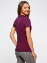 Поло базовое из ткани пике oodji для женщины (фиолетовый), 19301001-1B/46161/8300N