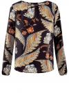 Блузка свободного кроя с вырезом-капелькой oodji #SECTION_NAME# (черный), 21400321-2/33116/2933F
