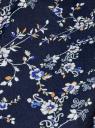 Топ принтованный с V-образным вырезом oodji для женщины (синий), 21400388M/35542/7945F
