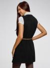 Жилет из плотной ткани с карманами oodji #SECTION_NAME# (черный), 12304002/45749/2900N - вид 3
