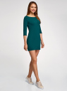 Платье трикотажное базовое oodji #SECTION_NAME# (зеленый), 14001071-2B/46148/6E00N - вид 6