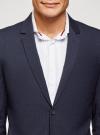Пиджак однобортный на пуговицах oodji для мужчины (синий), 2L420281M-1/49819N/7975S - вид 4
