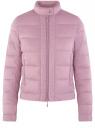 Куртка стеганая с воротником-стойкой oodji #SECTION_NAME# (фиолетовый), 10203038-5B/47020/8000N
