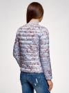 Куртка стеганая с круглым вырезом oodji для женщины (синий), 10204040-1B/42257/7019F - вид 3