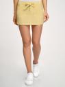 Юбка хлопковая на завязках oodji для женщины (желтый), 11602125-1/14943/5000N