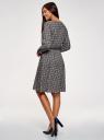 Платье вискозное с ремнем oodji для женщины (синий), 21912001-2B/26346/7954E