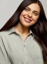 Блузка вискозная с отложным воротником oodji для женщины (зеленый), 11403231B/26346/6000N